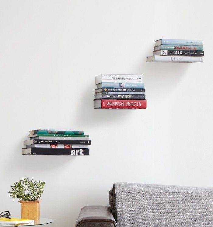 etagere murale fixation invisible support livres magique - Fixer Une Etagere Murale