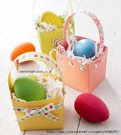 Корзинка для яиц к пасхе