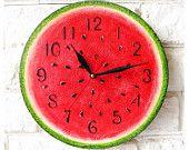 Арбуз настенные часы Home Decor для детей Детские Малыш мальчик девочка Питомник кухня