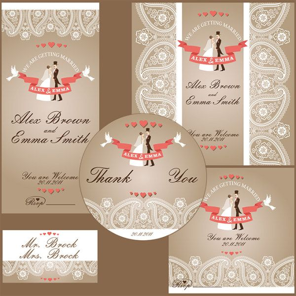 54 best mariage vector images on Pinterest