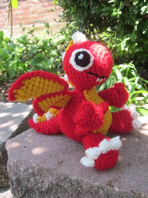 Lemmy Loop: Fire Dragon Amigurumi --> now to figure out a pattern!!
