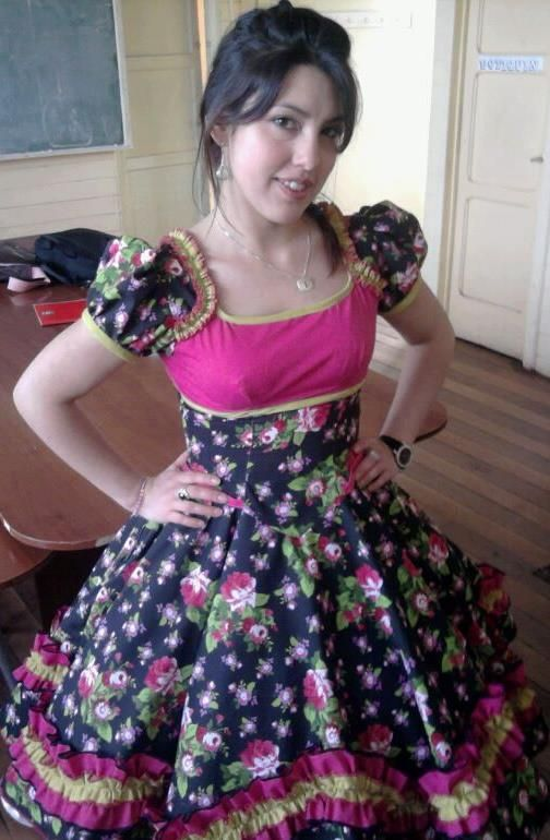 "This is me in 2011 wearing a ""china"" dress at our annual Independence celebration at the school where I teach English."