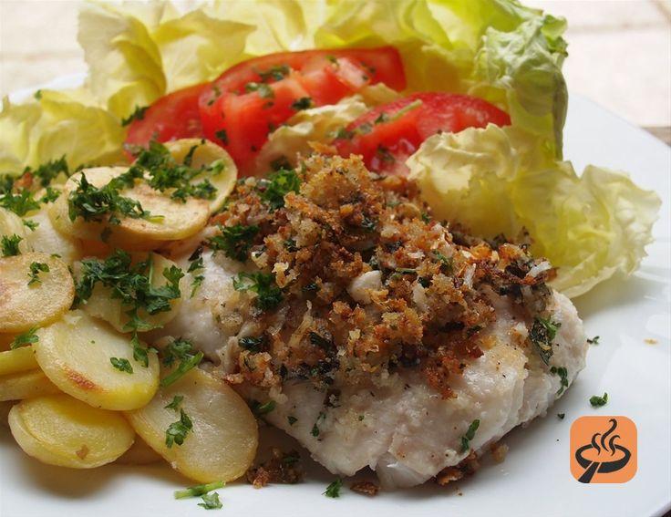 Lemon, Parmesan and Herb Crusted Hake recipe