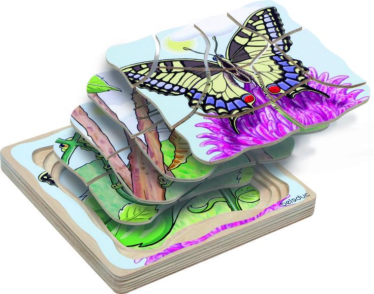 PUZLE CAPAS MARIPOSA DE MADERA (24,95 €) #puzzle #puzzlemadera #puzzleinfantil http://www.babycaprichos.com/puzzle-capas-mariposa-de-madera.html