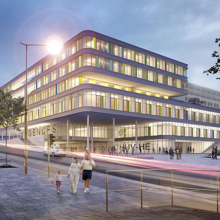 Lausanne University Children's Hospital by gmp in Switzerland. The design by architects von Gerkan, Marg and Partners, with JB Ferrari, for a new children's hospital at the Lausanne University Hospital has won first prize in an international competition.