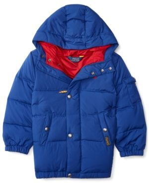 Ralph Lauren Little Boys' Quilted Down Jacket, Toddler 2T-4T, Little Boys' 2-7 - Chase Blue 2/2T