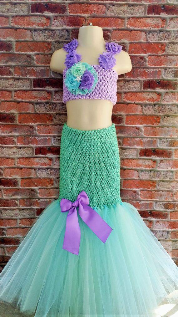 Mermaid tutu dress. Ariel tutu dress. Beach by Shiningstarstore