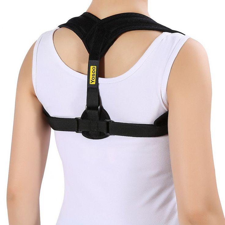 Yosoo Back Posture Corrector Adjustable Clavicle Brace Comfortable Correct Shoul #YosooHealthGear