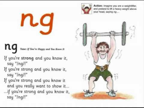 JOLLY PHONICS ng song from Read Australia Having FUN with phonics - YouTube