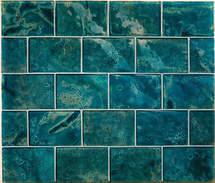 ann sacks aura custom glass field in deep blue sea