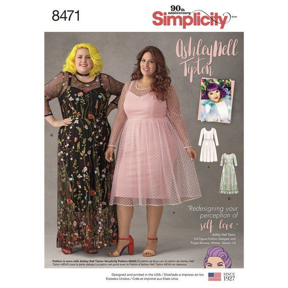Simplicity Pattern 8471D0754 Ashley Nell Tipton Womens