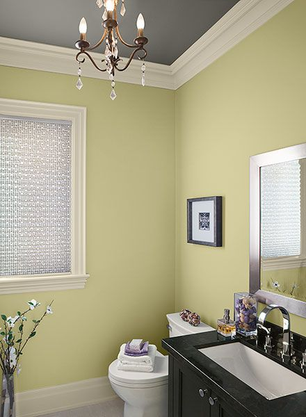 Green Bathroom Ideas – Modern Mix of Green and Gray – Paint Color Schemes