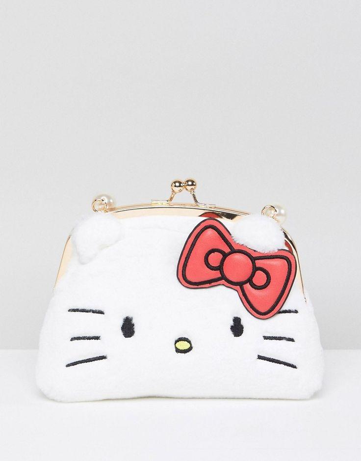 Hello Kitty X ASOS Faux Fur Crossbody Bag - White