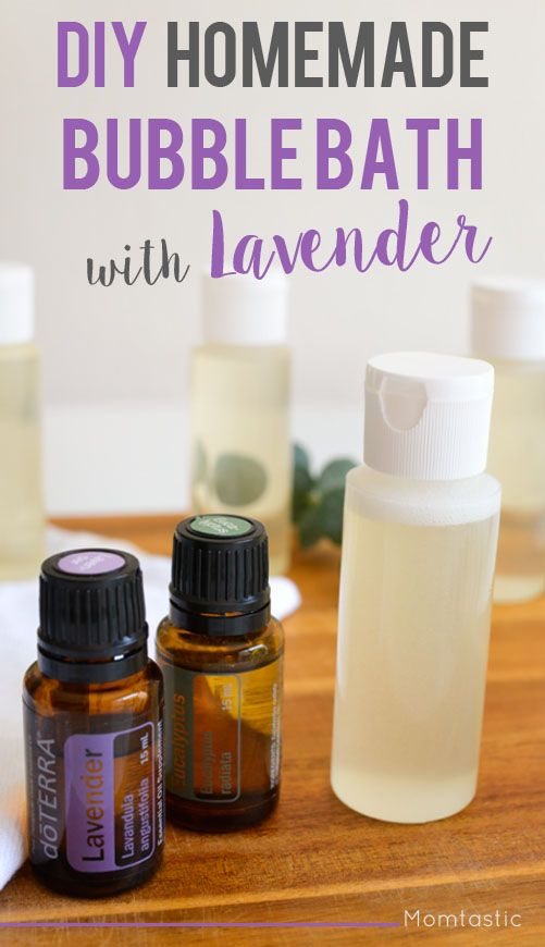 "Especially good if you or your kids have allergies! What I love about this recipe is that you can create the perfect blend based on what mood you are trying to achieve. Essential oils are said to help with all kinds of ailments, although I use them mostly to make the room smell amazing through a diffuser or room spray. Adding them to your bath is a simple way to make your ""me time"" a little more special. This homemade bubble bath also perfect for kids pre-bedtime, as the lavender scent is ca"
