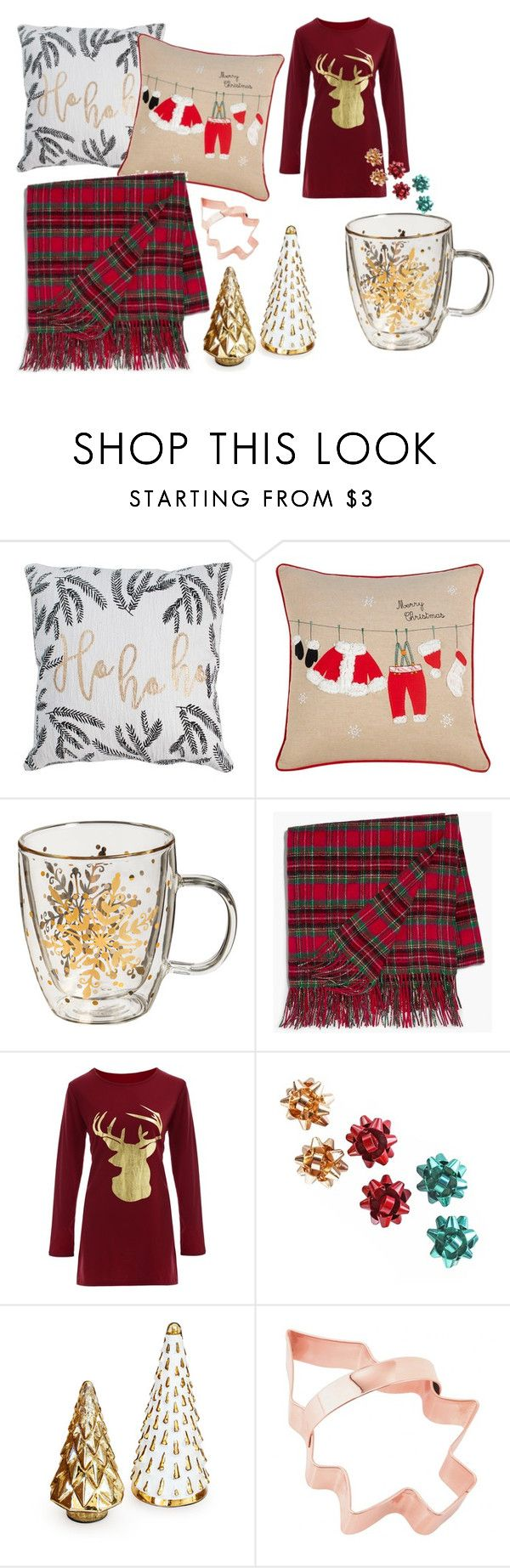 Merry Christmas by britney-lynn on Polyvore featuring interior, interiors, interior design, home, home decor, interior decorating, Rizzy Home and Talbots
