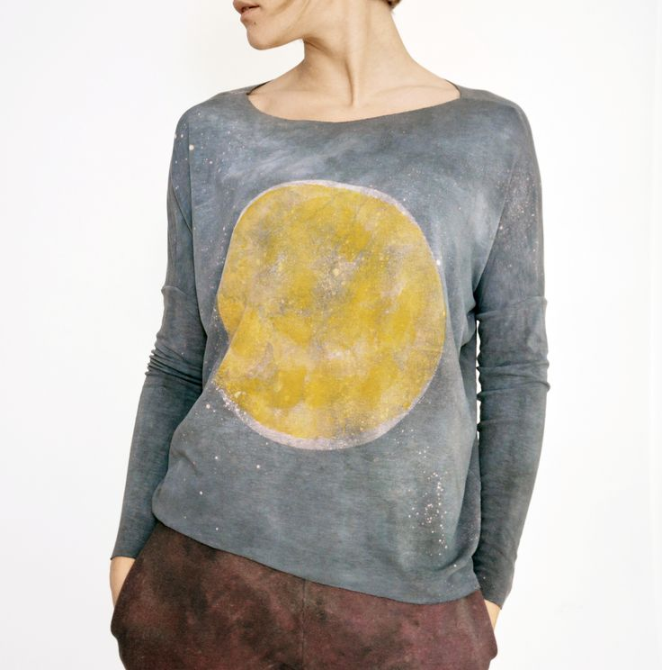hand dyed unique longsleeve moon series