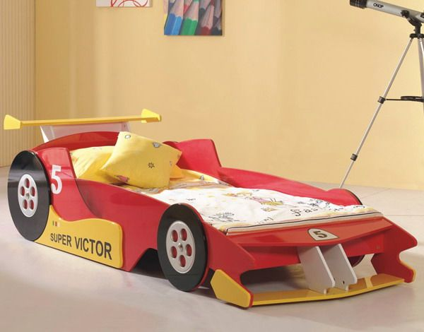 15 Cute Car Shaped Bed Designs For Kids Room Red Yellow