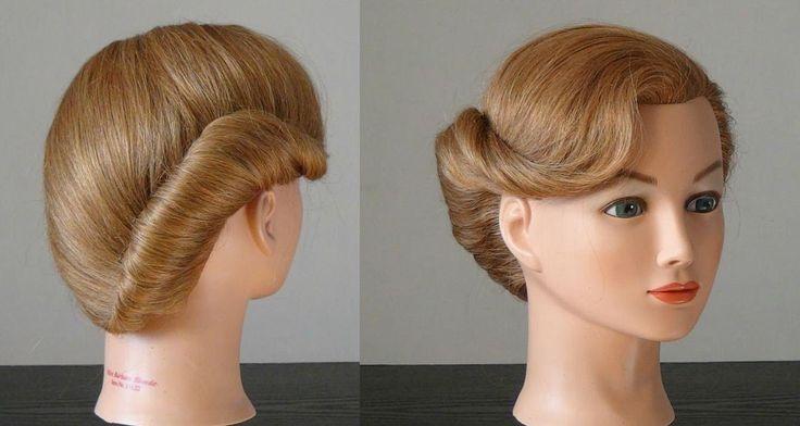 """Прическа """"Ракушка"""" за 1 минуту. French twist hairstyle for medium short hair"""