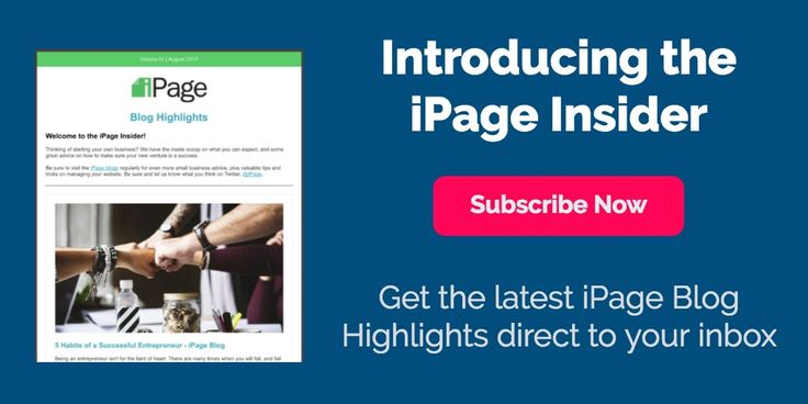 Don't miss out on the next iPage Newsletter. Visit the iPage blog and subscribe today!