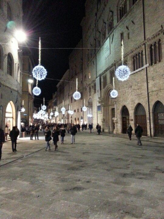 Corso Vannucci nel Perugia, Umbria