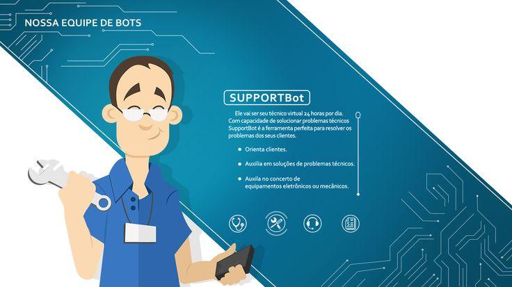 Ilustração – Avatar SupportBot Alabia – Augusto Galvão Ilustração