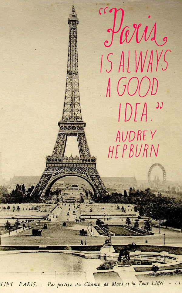 Paris and Audrey Hepburn via the incomparable Lisa Congdon.