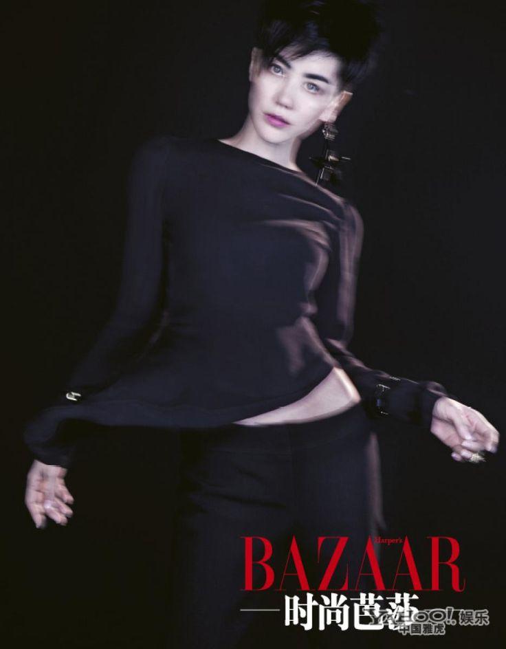 Harper's Bazaar China. Faye Wong and photographer Chen Man.