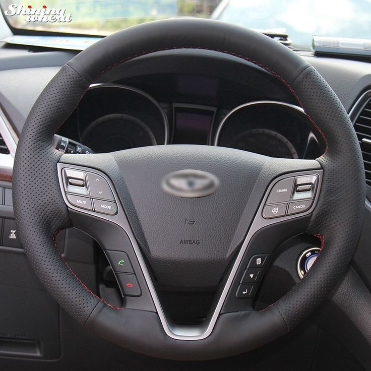 Buy online US $21.15  Shining wheat Hand-stitched Black Leather Steering Wheel Cover for Hyundai Santa  Fe 2013-2015  #Shining #wheat #Handstitched #Black #Leather #Steering #Wheel #Cover #Hyundai #Santa  #CyberMonday