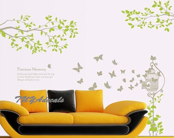 Nursery decal Vinyl Wall Decal Nature Design Tree Wall Decals chrildrens wall decals Wallstickers , wall decals :precious