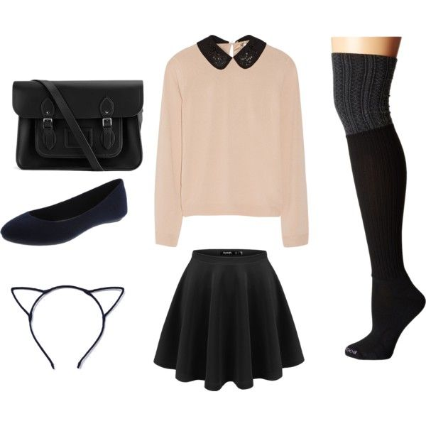 kawaii by madamblue25 on Polyvore featuring polyvore fashion style N°21 Bootights The Cambridge Satchel Company Pink lovely innocent BlackPink kawai