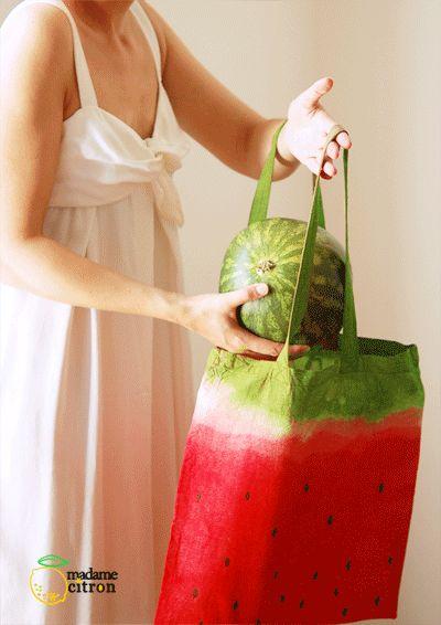 DIY : le sac tote bag pastèque