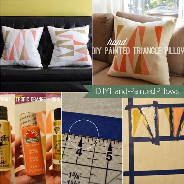 DIY Hand-Painted Pillows & 60 best Painted pillowcases images on Pinterest | Diy pillows ... pillowsntoast.com
