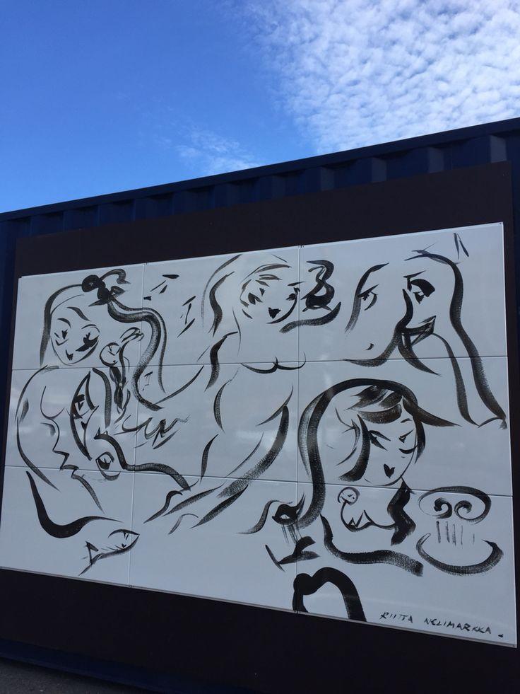 Riitta Nelimarkan emalitaideteos Helsinki Design  Weekillä 2015