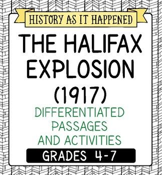 One hundred years ago the Halifax Harbour was rocked by a massive man made explosion like nothing the world had seen to that point. This resource tells the story of that horrific event linked to WWI. The Halifax Explosion (1917) includes three reading texts (Parts 1-3) written at two levels for