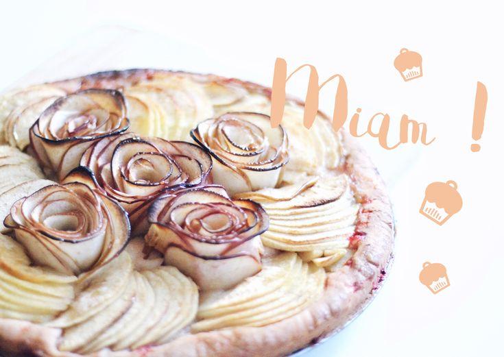 Ma tarte aux pommes en fleurs • Mymy & Cie