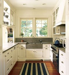 kitchen layout ideas for small spaces u shaped - Google Search
