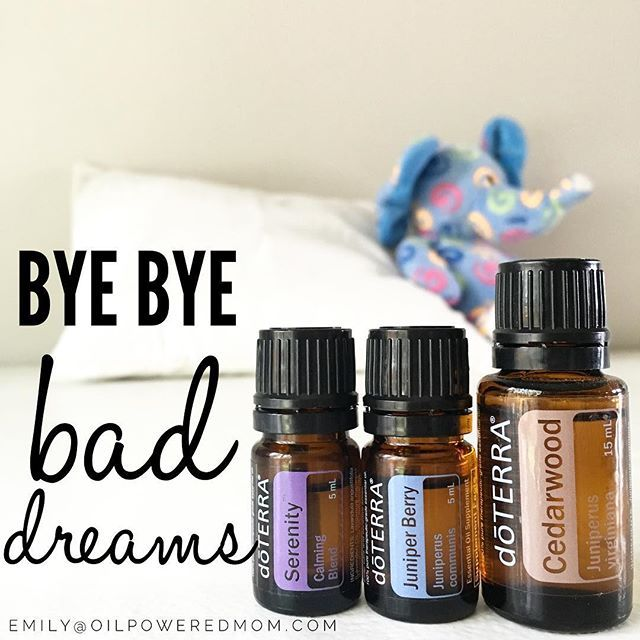 My little guy has been waking up with bad dreams the last few days, both at night and nap time. Must be his vivid imagination and obsession with all things dinosaur, dragon, and dragon hunter related (such a boy.) Juniper Berry is helpful for bad dreams, so I added it to his diffuser for naps today. No bad dreams!  2 drops each Serenity, Cedarwood, and Juniper Berry.