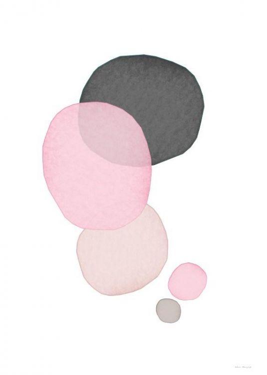 Tavlor och posters med abstrakt konst | Prints / affischer med bubblor