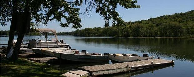 Campbellford, Ontario, on the Trent River fishing