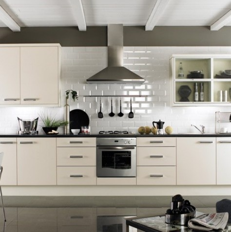 Metro - Kitchen Tiles - Tiles with contrast paint