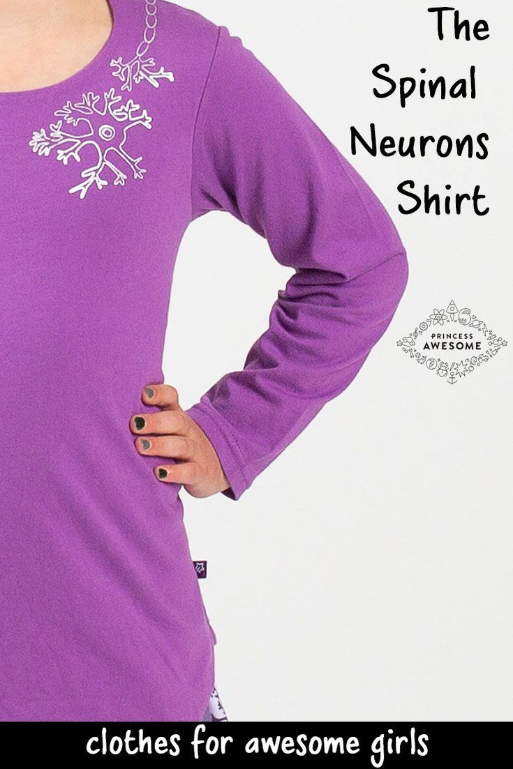 Spinal Neurons Long Sleeve Tunic Shirt Biology Girls Clothes