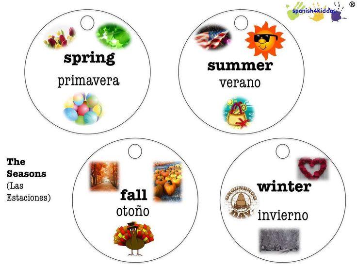 Spanish seasons lesson plan - Spanish4Kiddos Tutoring
