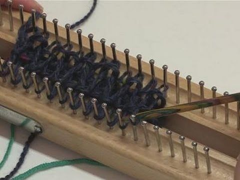 How To Knit With A Knitting Board - YouTube