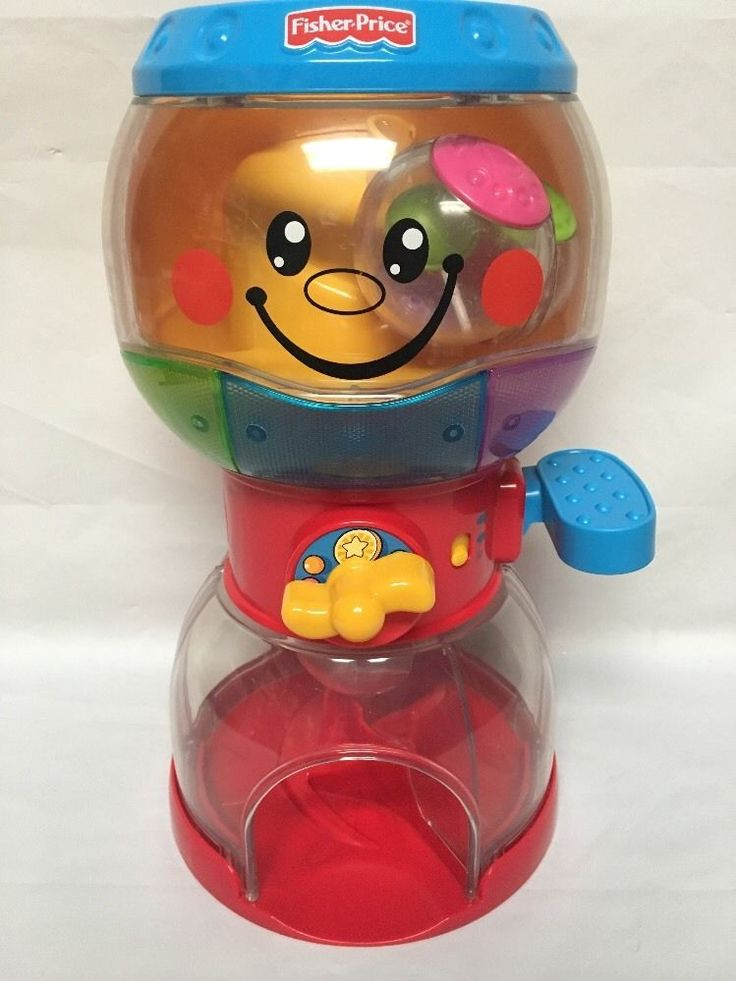 Fisher Price Roll-A-Rounds Bubble Gum Ball Machine Lights & Music With 4 Balls  | eBay