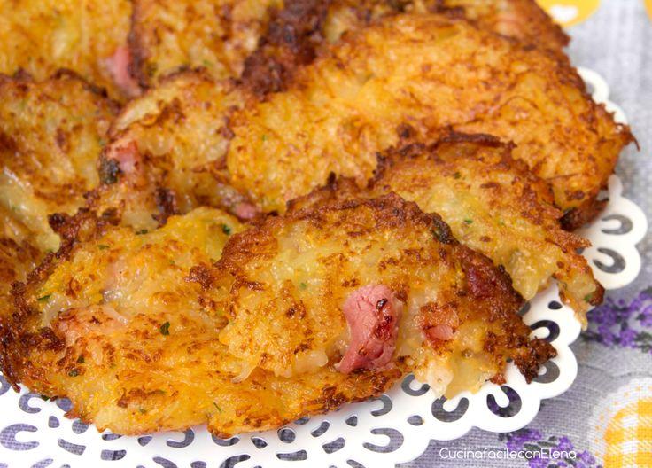 Frittelle di patate e zucca con pancetta