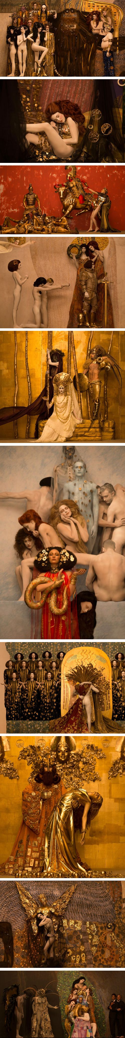 Gustav Klimt Brought to Life by Photographer Inge Prader.