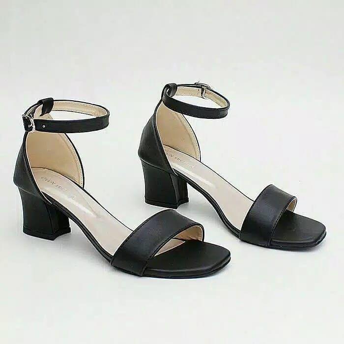 Ani R9 Sepatu Kerja Wanita High Heels Hak Tahu Hitam 73ribu Bahan