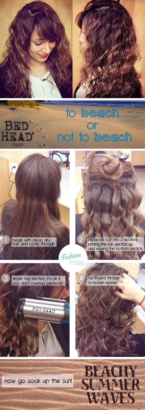Summer is almost over (we're sad too!) Take one last trip to the beach and then feel like you never left with the beachy waves you will get from the Bed Head Wave Artist Deep Waver. http://www.bedheadstyling.com/p-1315-wave-artist-ceramic-deep-waver.aspx