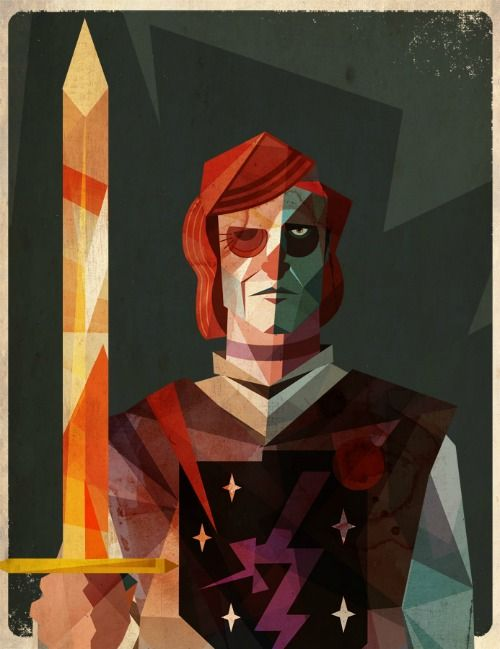 Beric Dondarrion Illustration by Dave Murray