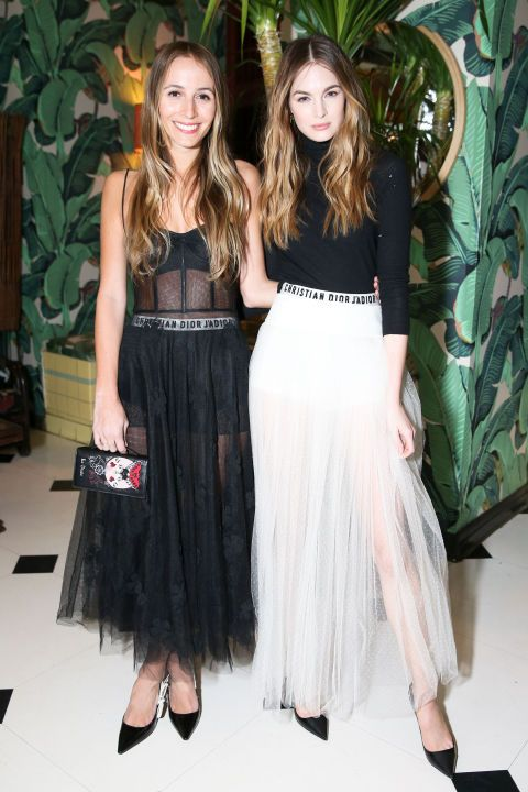 See all the celebs that showed up to the Dior x Saks Fifth Avenue Cocktail Party: Harley Viera-Newton and Laura Love